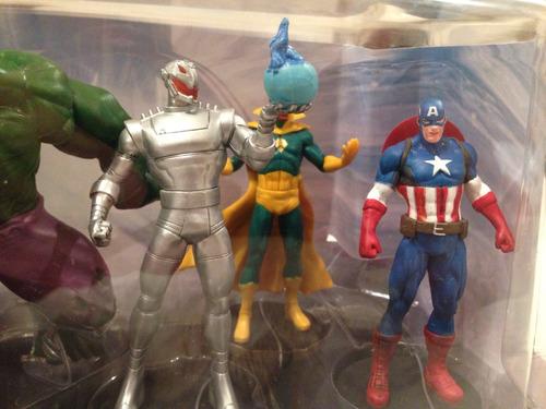 set de la era de ultron de disney store 6 figuras de plastic