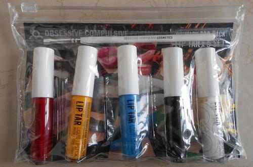 set de labiales veganos occ lip tarx5 primary pro pack