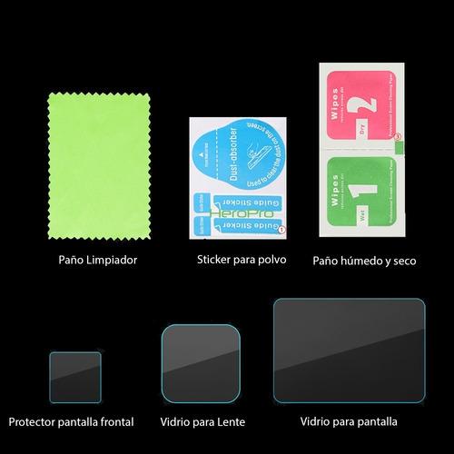 set de láminas de vidrio gopro hero 8 black pantalla y lente