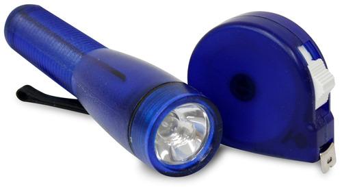 set de lámpara de mano y cinta métrica