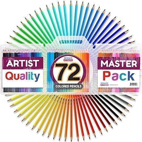 set de lápiz con el caso, de color 7 pulgadas, pack de 72