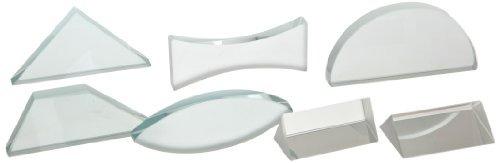 set de lentes y prismas de vidrio educativos de 7 piezas de