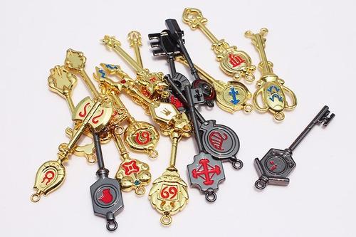 set de llaveros colgantes fairy tail 18 piezas