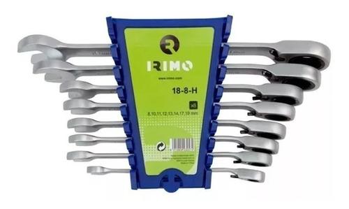 set de llaves comb. c/crique 8 pz 18-8-h irimo pintumm
