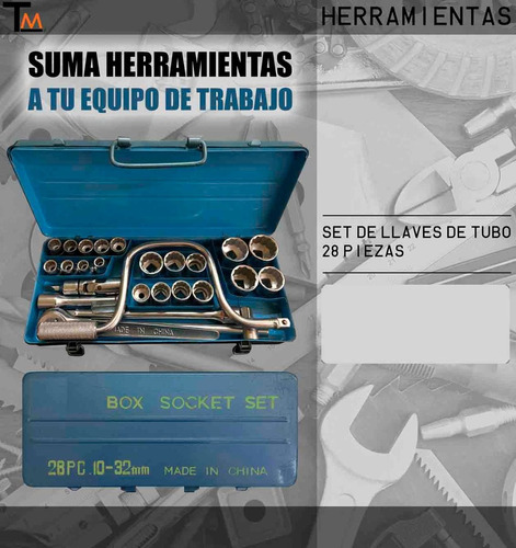 set de llaves de tubo 28 piezas