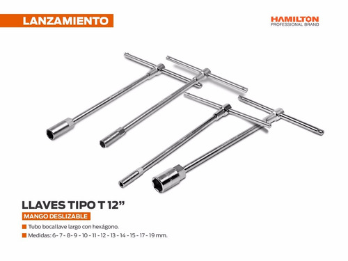 set de llaves t de 3 piezas hamilton 11- 13mm hot sale