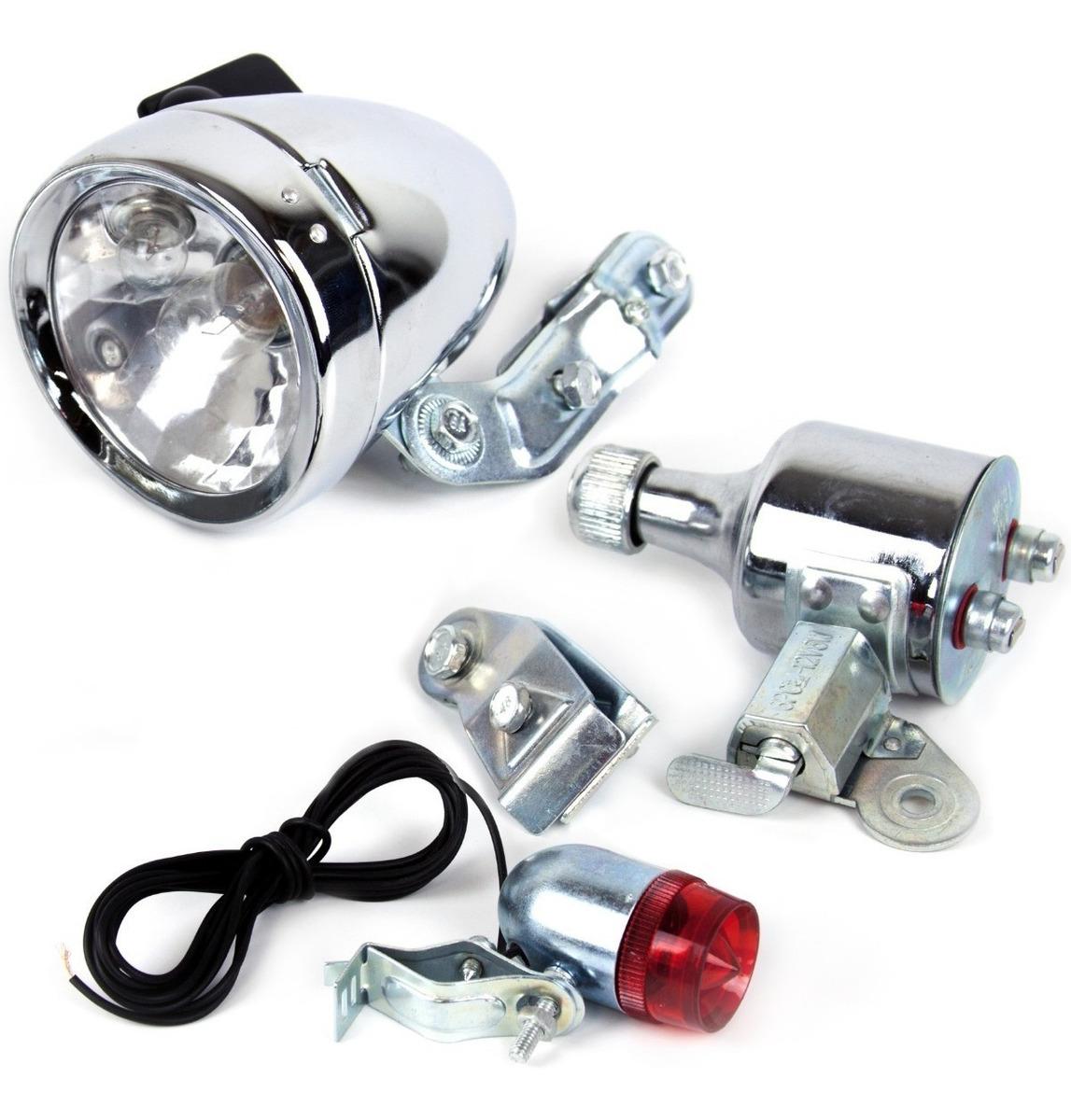 ded6acb9f set de luces con dinamo para bicicleta tipo retro o vintage. Cargando zoom.