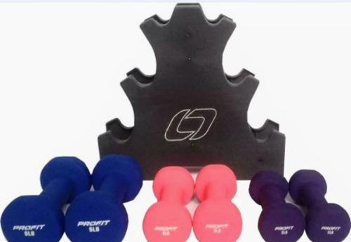 set de mancuernas 20lb soporte(rack),juego 2*pesas = 2,3,5lb