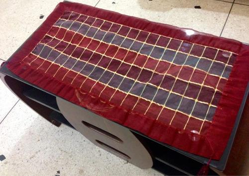 set de manteles importados de palestina 5 piezas rojo dorado