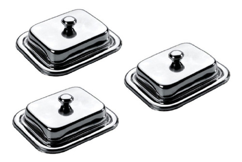 set de mantequilleros de acero inoxidable