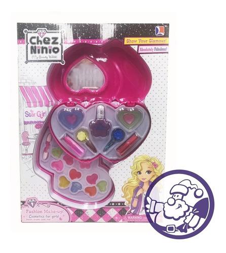 set de maquillaje chez ninio para niñas dos pisos corazones