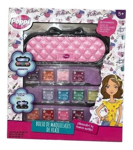 set de maquillaje para nenas s&lí cosmetics con cartera