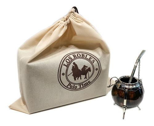 set de mate alpaca calabaza con bombilla caja