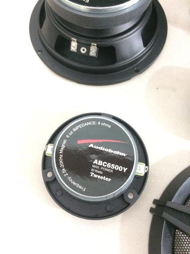 set de medios3.5 900w marca audiobahn abc6500y