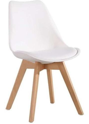 set de mesa 1,20x0,80 + 4 sillas tulip blanca