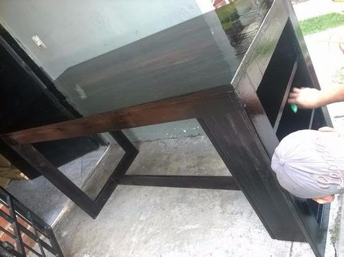 set de mesa + 4 sillas altas