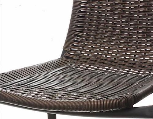 set de mesa + dos silla de rattan o ratan exterior jardin