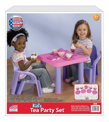 set de mesa fiesta de té - american plastic toys