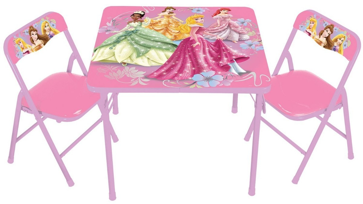 Set de mesa y 2 sillas de disney princess para ni as vbf for Mesas y sillas para ninas