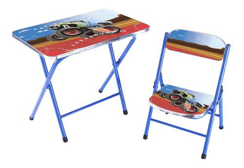 set de mesa y silla inflantil plegable