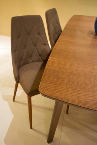 set de mesas merlot extensible + 6 silla modelo viena