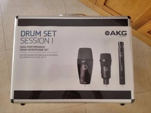 set de micrófonos para batería akg drum session 1 envio 24hr