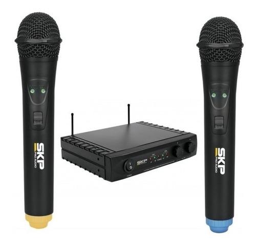 set de micrófonos skp uhf-261 dinámico