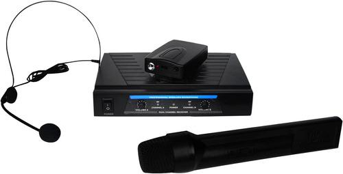 set de microfonos solapa diadema y de mano inhalambricos 80m