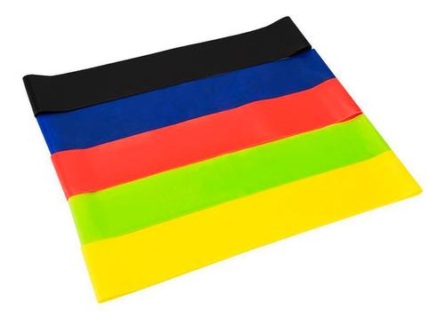 set de mini bands x 5 resistencias banda circular + bolso