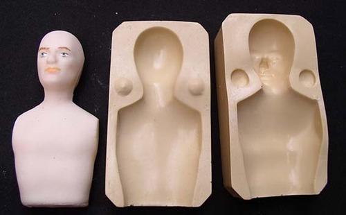 set de moldes torso x 4 ,familia rigidos ,porcelana fria