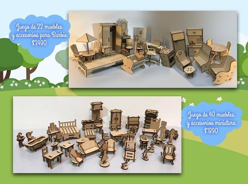 set de muebles grandes para casa barbies 22 piezas niños