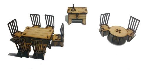 set de muebles para muñecas - 29 piezas ideal lol o pinypon