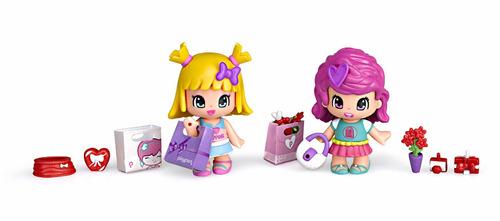 set de muñecas amigos de shopping pinypon r3159