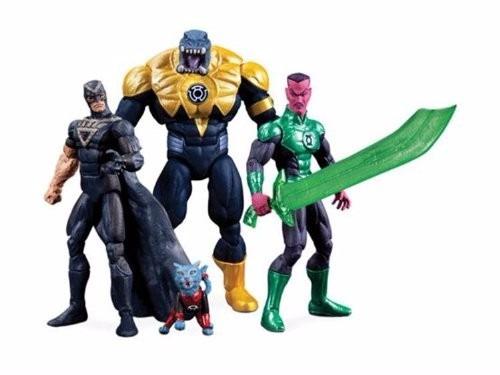 set de muñecos sdcc 2013 dc comics super heroes black hand