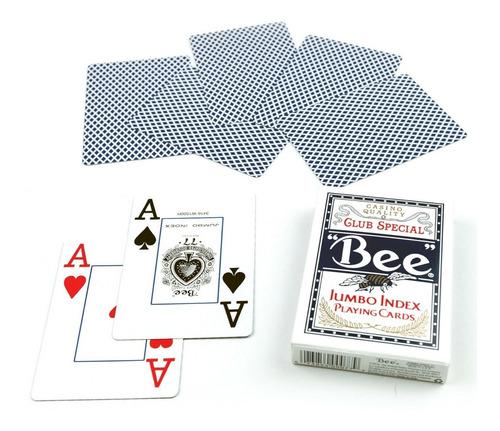 set de naipes bee jumbo index poker blackjack baraja