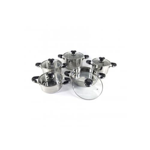 set de ollas 10 piezas superx acero inoxidable