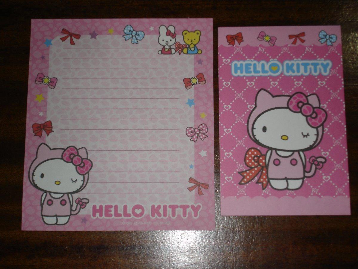 169f14d4d091 Set De Papel Carta Y Sobre De Hello Kitty - Sanrio Pc01 -13 -   144 ...