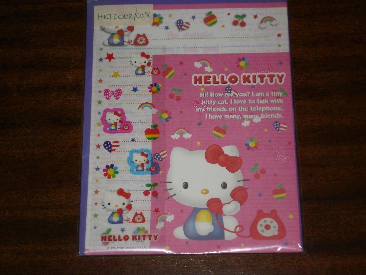 ffd832397c0f Set De Papel Carta Y Sobre De Hello Kitty - Sanrio Pc52 -01 -   224 ...