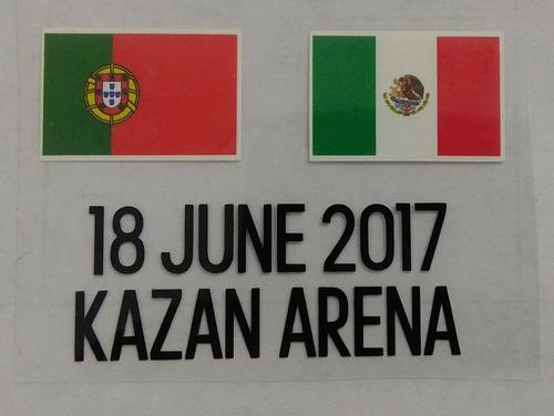 set de parches confederaciones 2017 mas match detail mexico