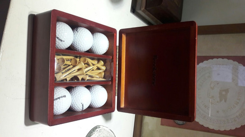 set de pelotas de golf brookstone caja de madera