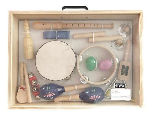 set de percusion para niños - 10 instrumentos knight jb550