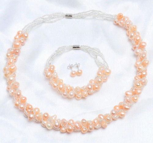 set de perlas verdaderas