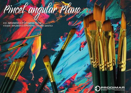 set de pincel sintetico daga y angular plano oro