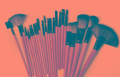 set de pinceles de maquillaje profesional (24 piezas)