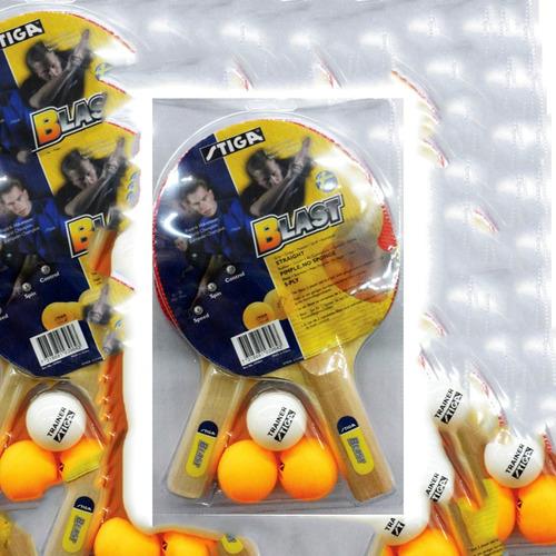 set de ping pong stiga blast 2 raquetas 3 pelotas.  l3o