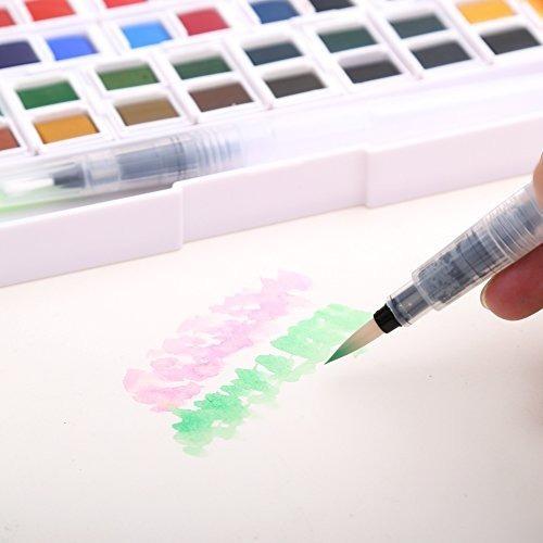 set de pintura de acuarela - 48 acuarelas variadas - kit de