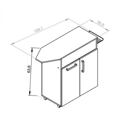 set de planchado con canasto estantes y ruedas xp090