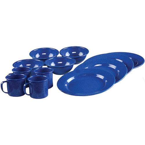 set de platos comedor 12pcs coleman enamelware