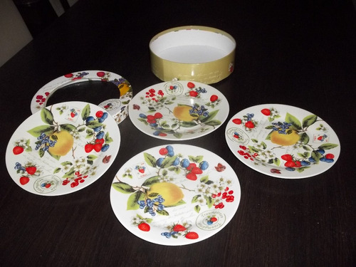 set de platos de postre de porcelana traumgarten