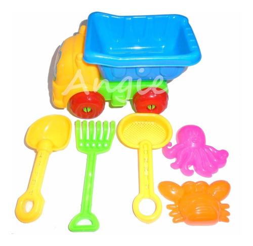 set de playa camión y juguetes playeros
